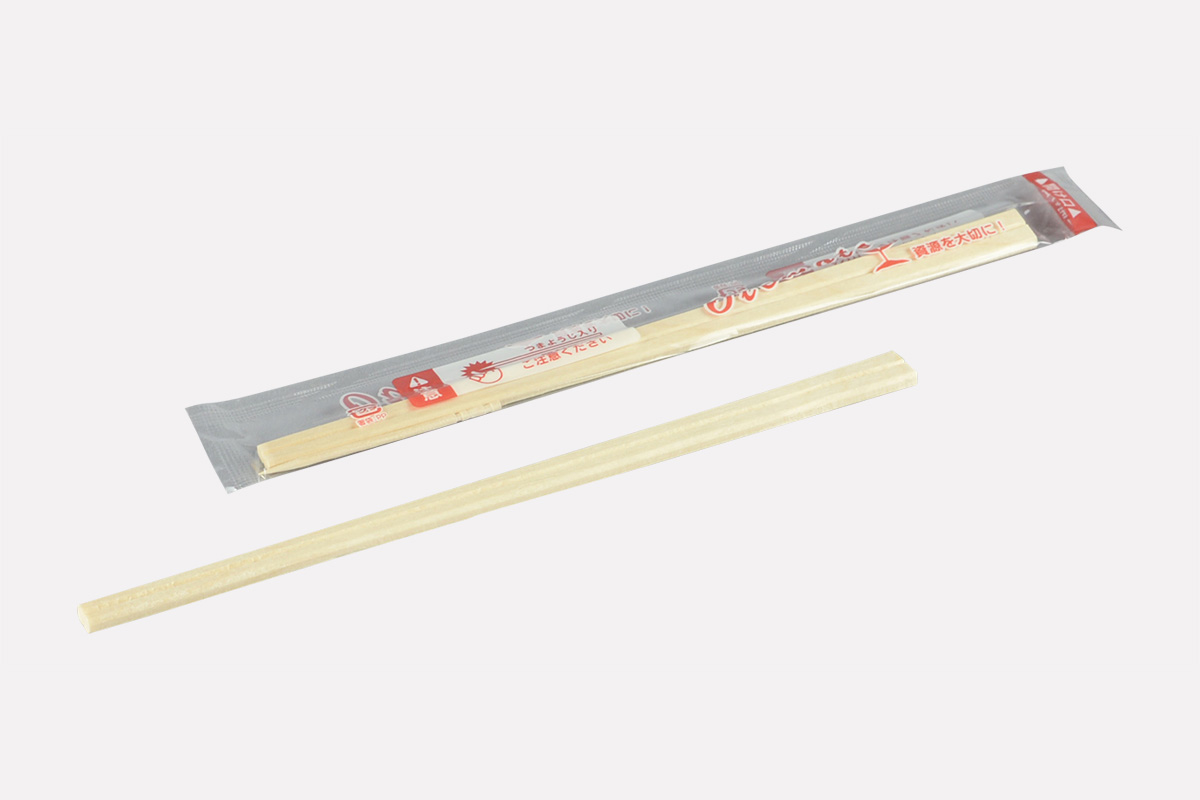 白樺元禄8寸  OPP完封箸(楊枝入)