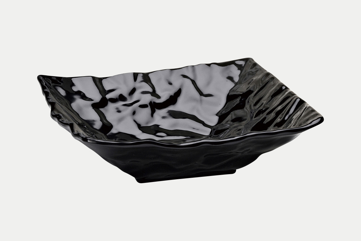 縮緬紙深皿  黒  25角