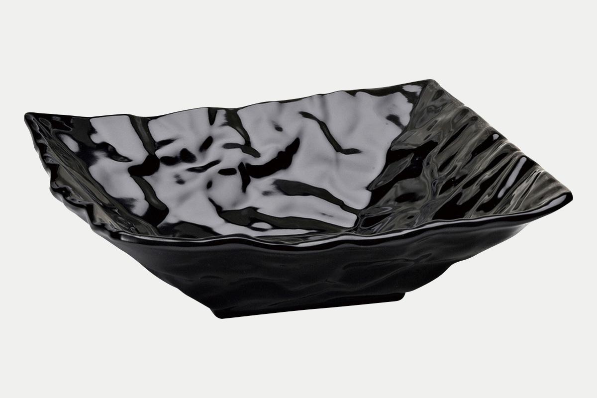 縮緬紙深皿  黒  30角