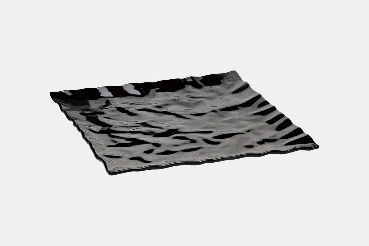 縮緬紙平皿  黒  30角