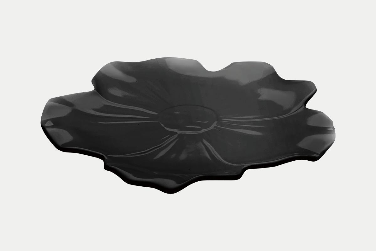 平華皿  黒  30㎝