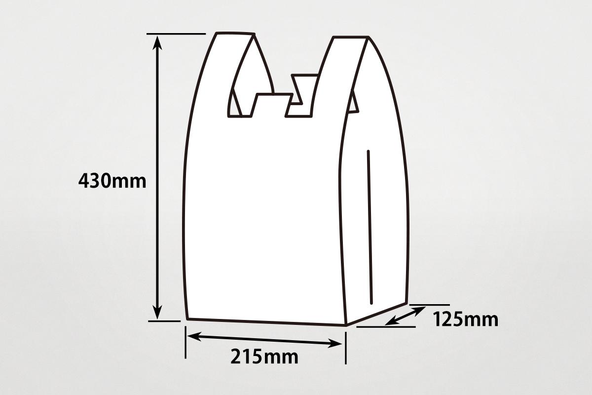 レジ袋  M  半透明