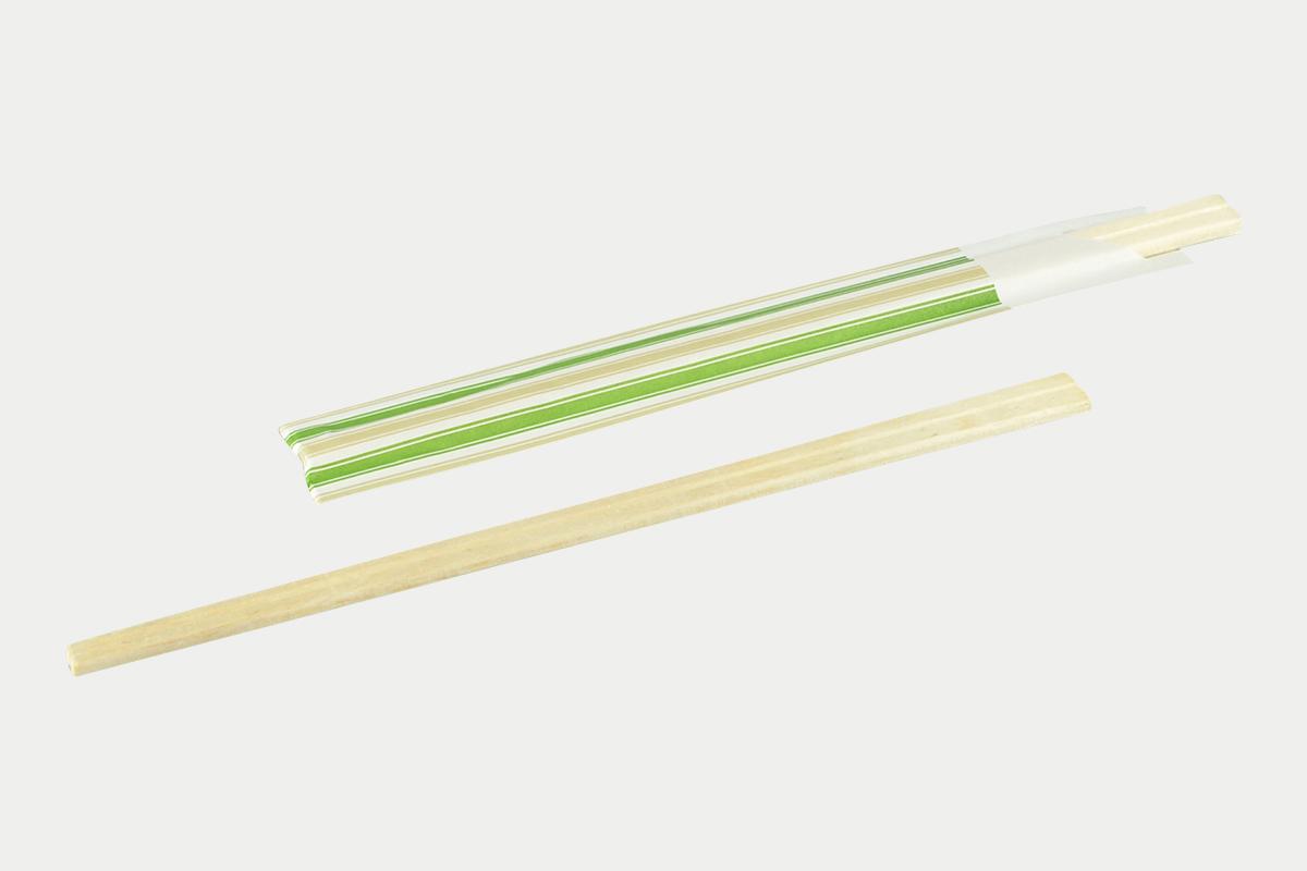袋入箸  白楊元禄8寸緑  100膳