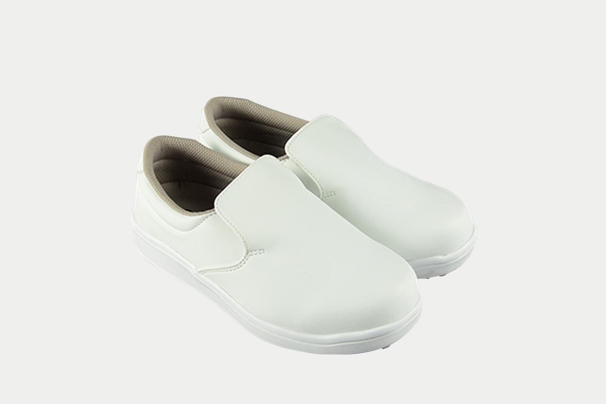 短靴シェフグリップ白25.5cm