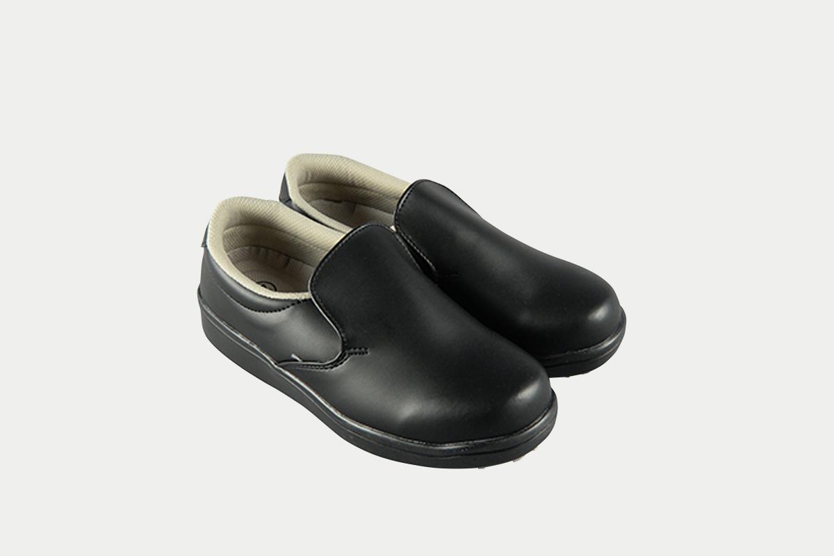 短靴シェフグリップ黒25.0cm