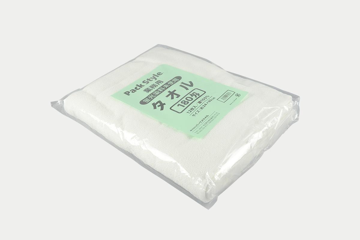 白タオル  180匁  12P  蛍光染料無