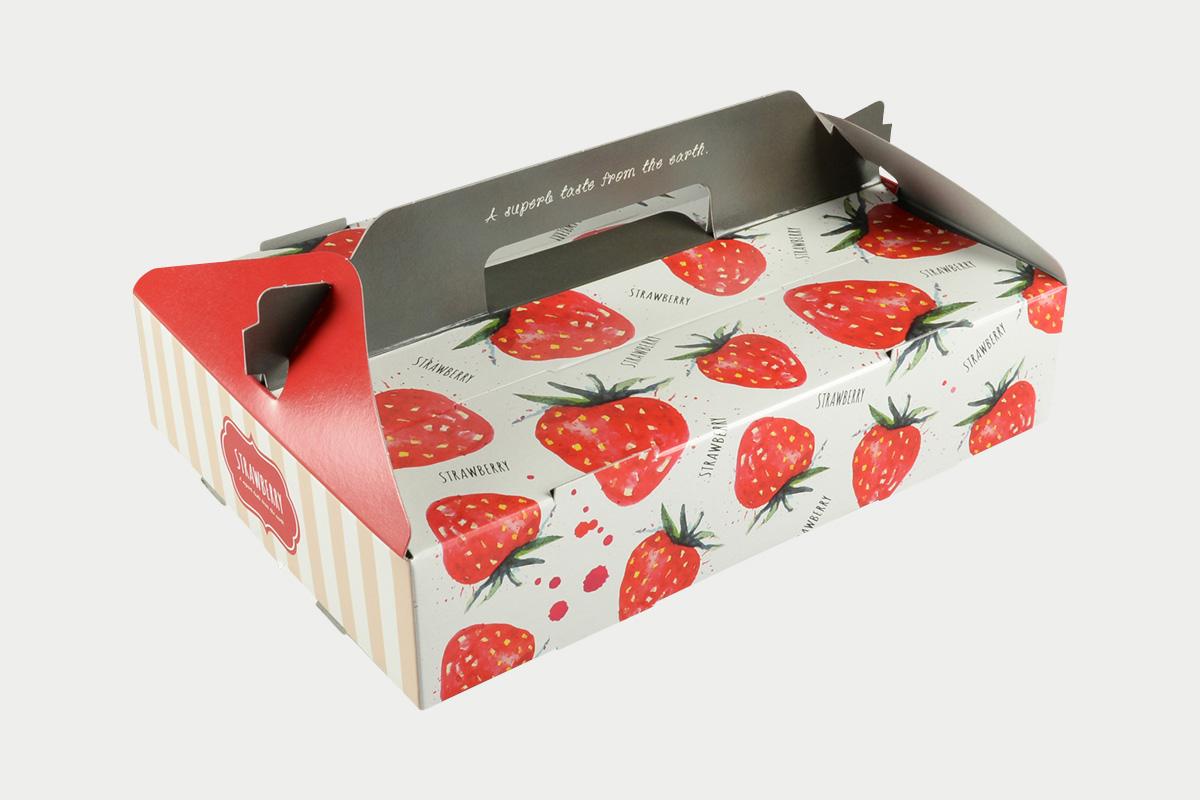 PS手提箱  イチゴ  2P  ポップホワイト
