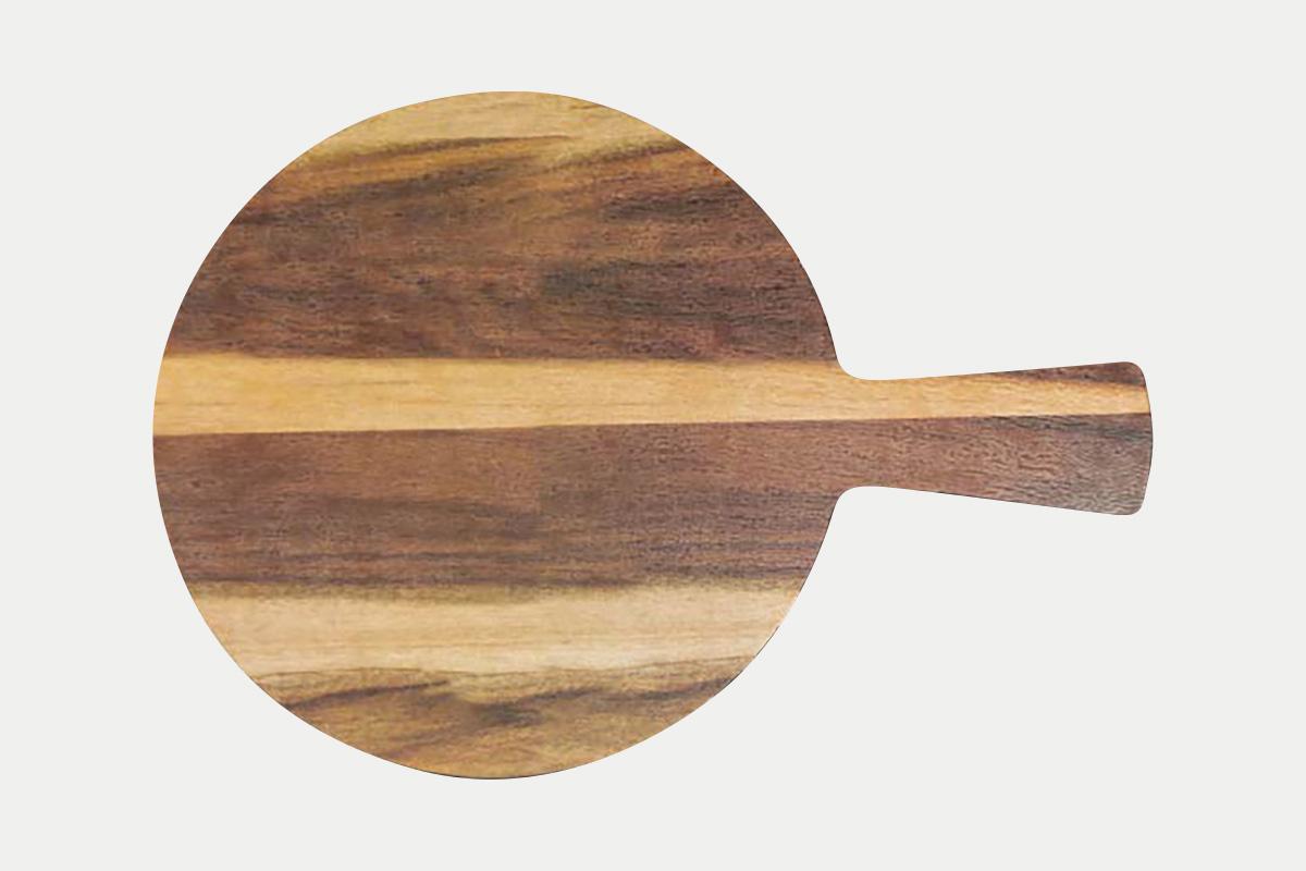 手付円形ボード  縞木  38