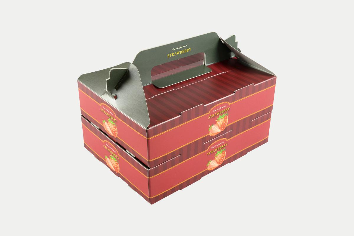手提箱  イチゴ  2P  リッチレッド