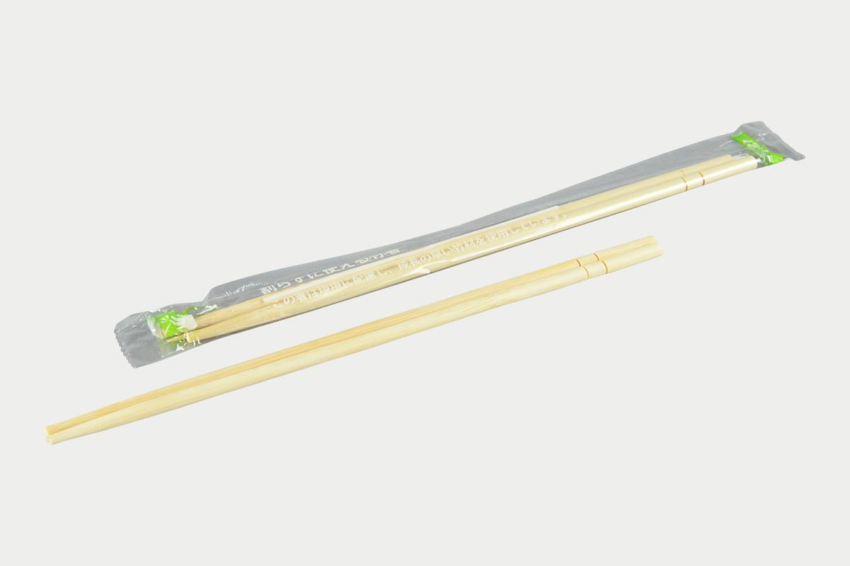 OPP完封 竹丸箸20cm  楊枝付き