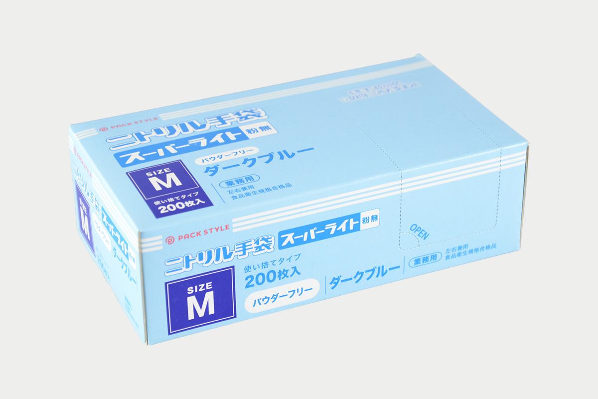 ニトリルスーパーライト粉無  M  濃紺