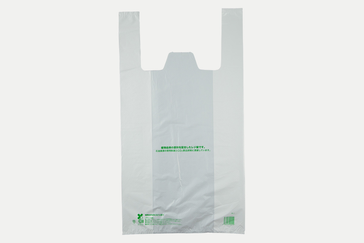 バイオマスレジ袋30  LL  乳白