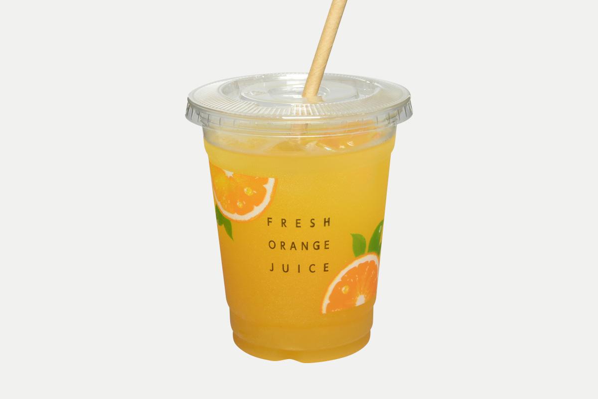PETカップ14oz-92  オレンジ