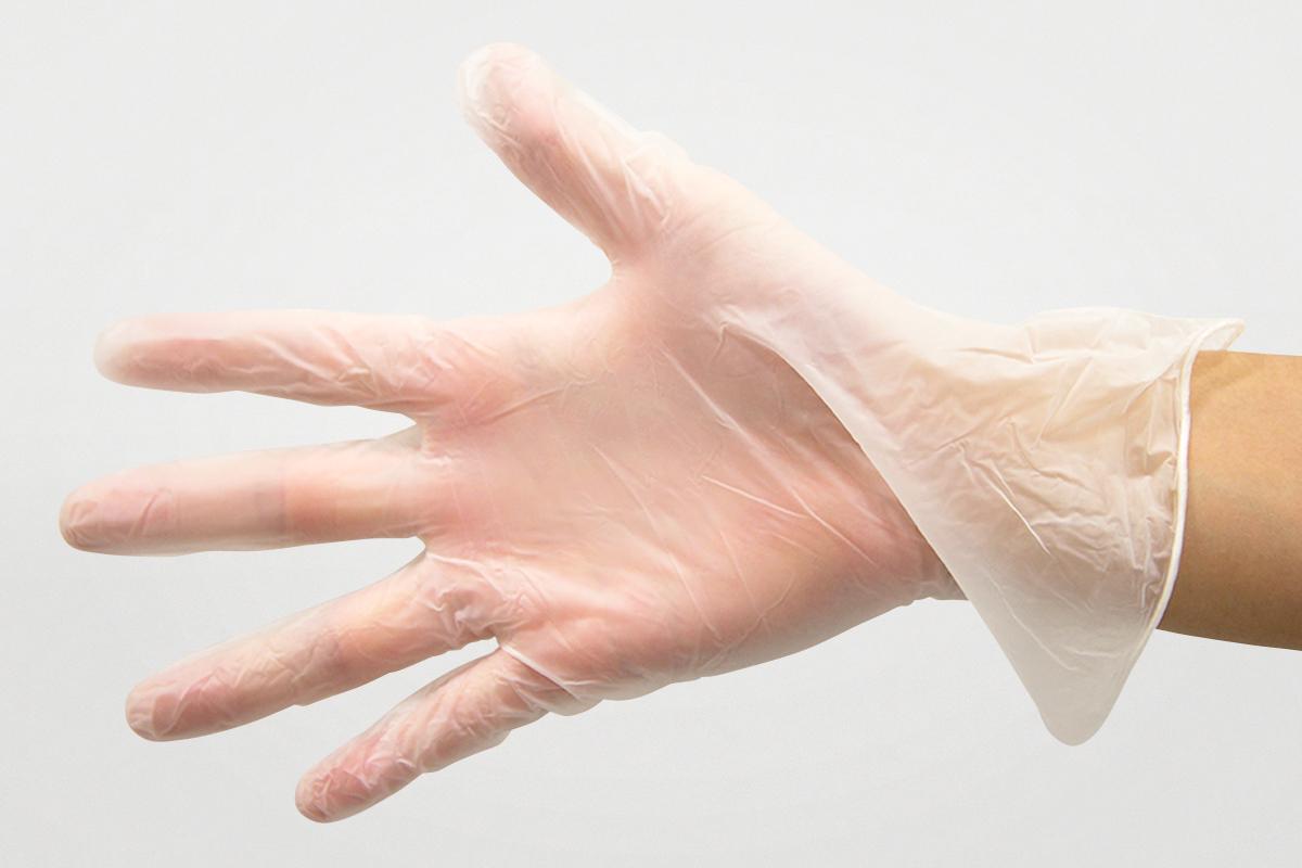 PSプラスチック手袋(PVC)  S