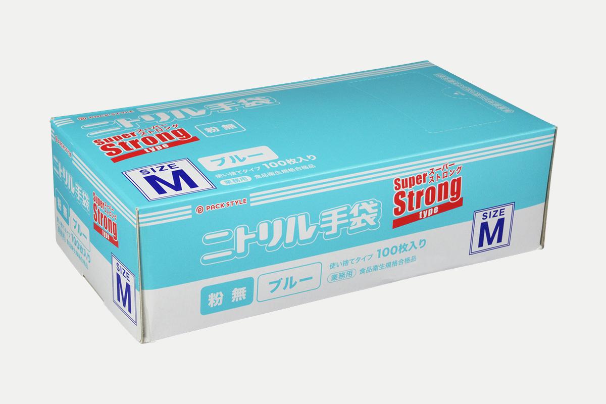 ニトリルスーパーストロング粉無M  青