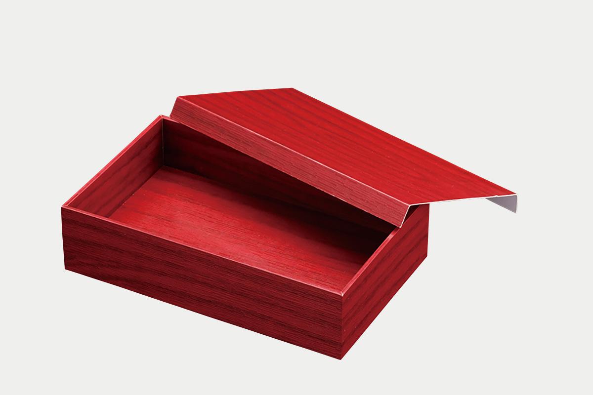 朱漆  貼箱1.5合